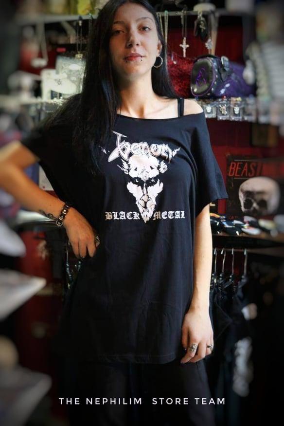 VENOM-BLACK METAL TSHIRT DRESS