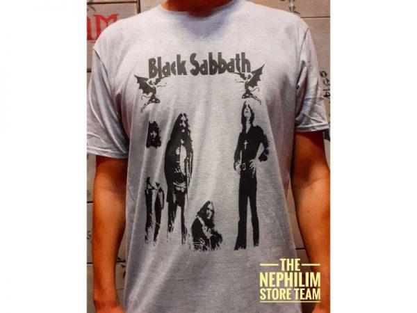 Black sabbath-band grey tshirt