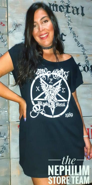 rotting christ-black metal tshirt dress