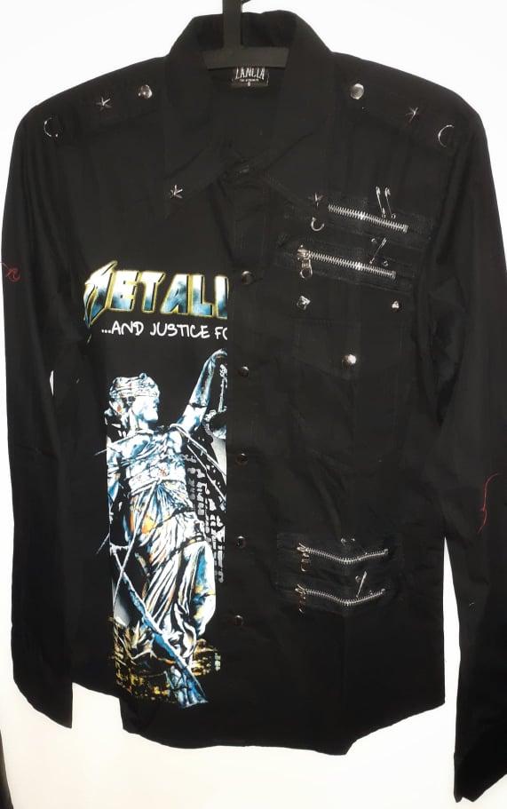 Metallica-justice worker shirt