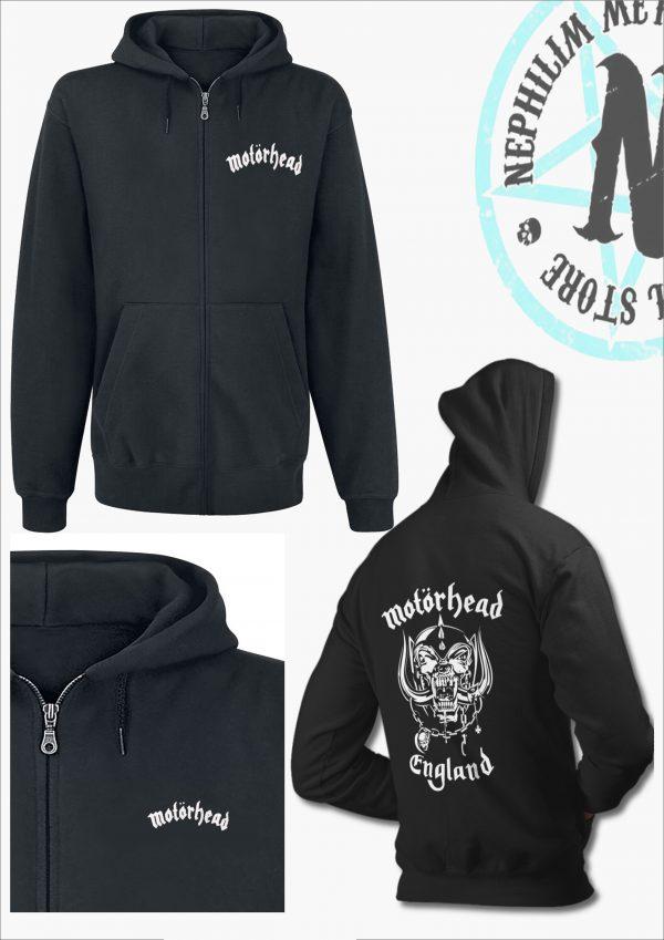 Motorhead-england zip hoodie