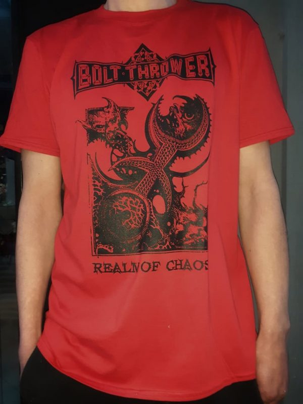 BOLT THROWER-realm of chaos red tshirt