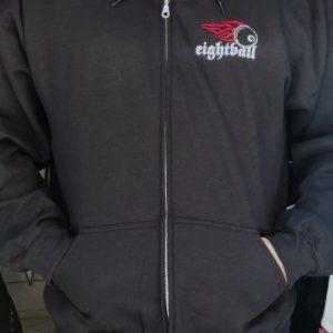 EIGHTBALL-zip hoodie