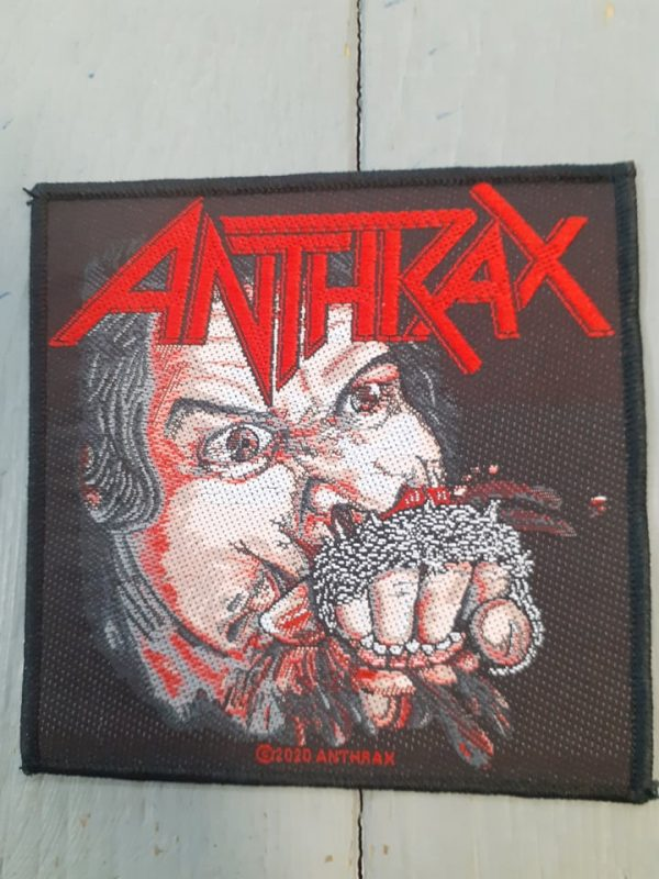 anthrax-fistful of metal patch