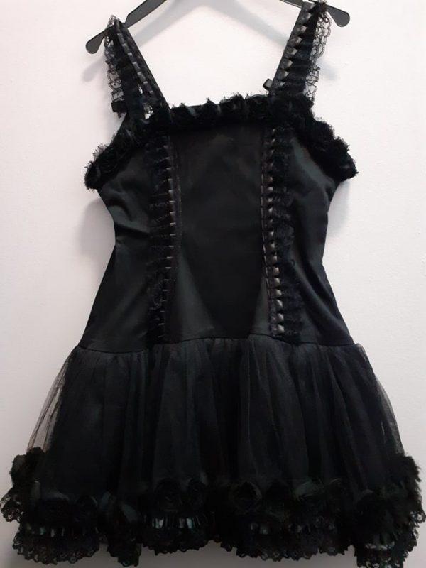 dress roses black