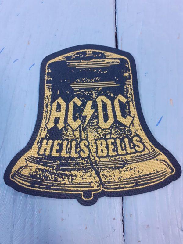 ac dc-hells bells cut out logo patch