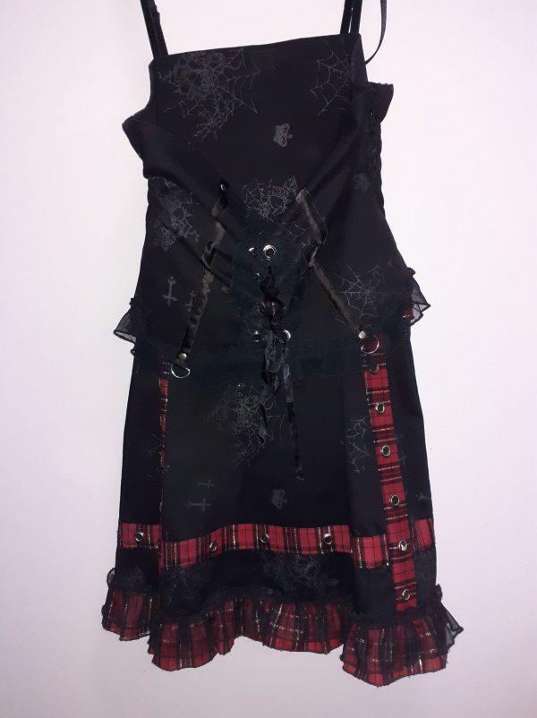 dress women black red crosses