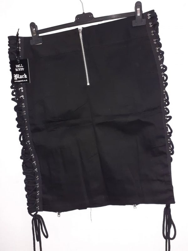 skirt laces in side black