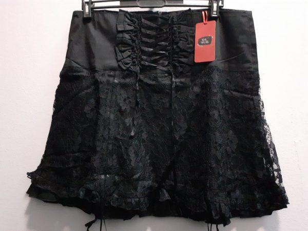 skirt black lace/