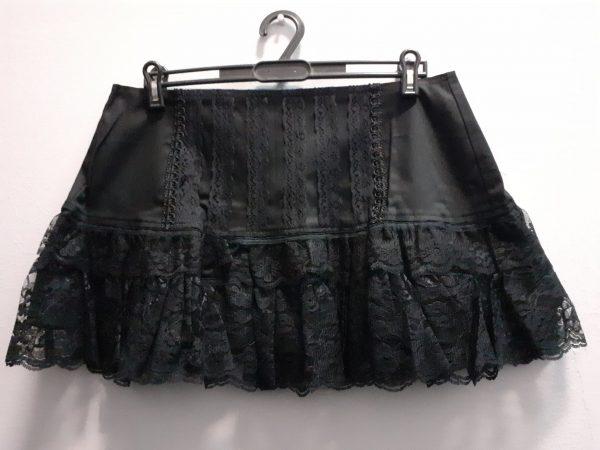 nebula lace skirt black