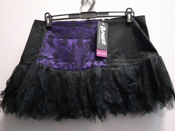 black/purple lace skirt