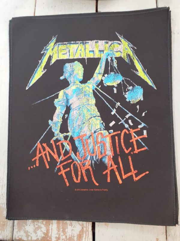 metallica-justice for all backpatch