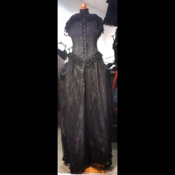 Floor-length black dress phaze clothing
