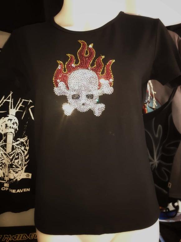 ladies skull flames