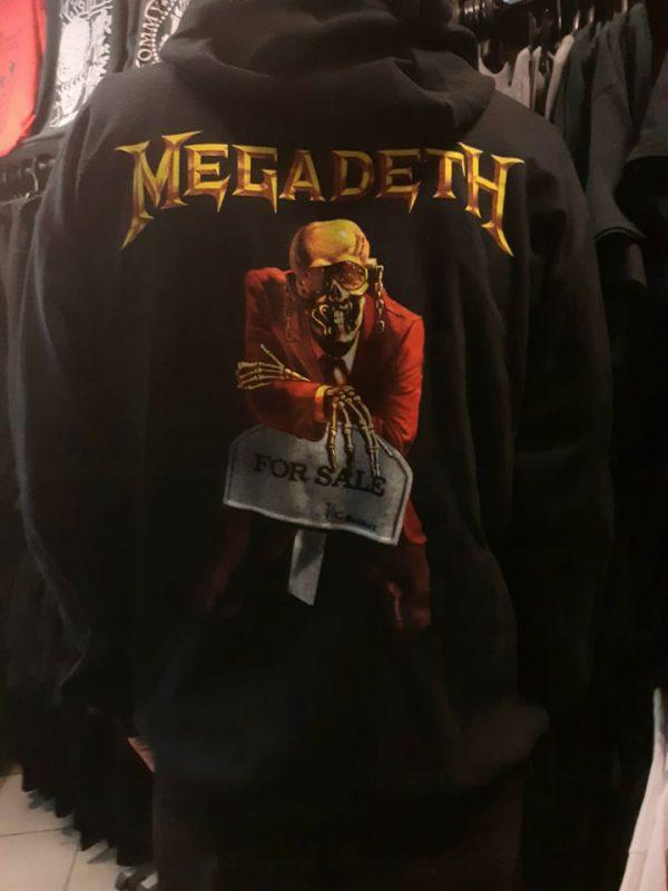 megadeth peace sells zip hoodie