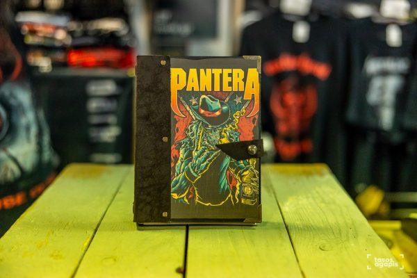 pantera notebook skull