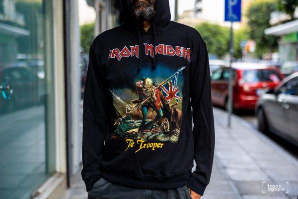 iron maiden the trooper hoodie