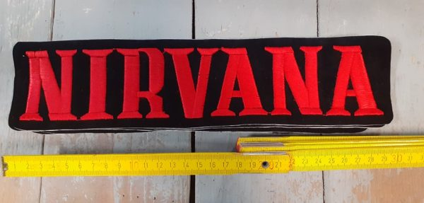 NIRVANA RED LOGO PATCH BIG