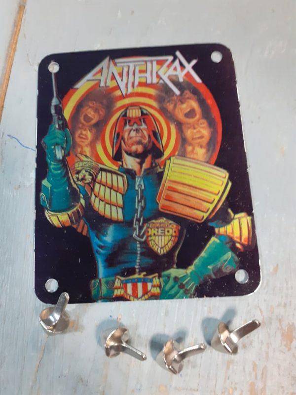 ANTHRAX VINTAGE BRASSART METAL STUDDED PATCH