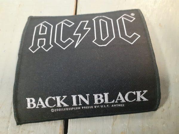 AC DC BACK IN BLACK PATCH