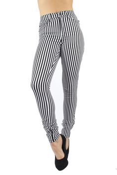 thin stripe stretch canvas Trousers