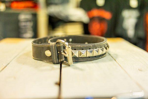 belt leather studds size medium