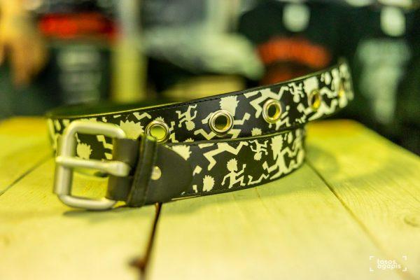 belt leather punk style size large