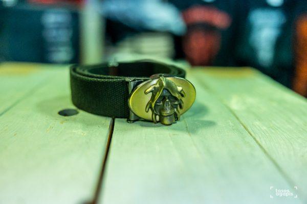 belt skull fast closurem size medium