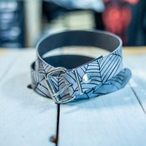 belt leather spider/grey size medium