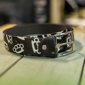 belt leather ring knuckle size medium