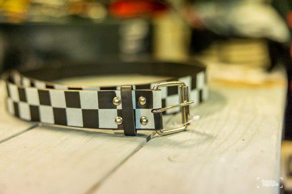 Belt Black and white chess size large