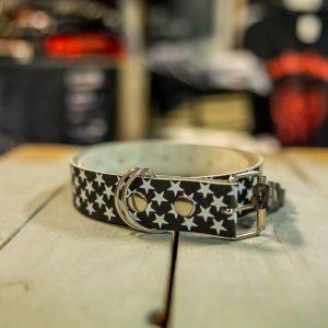 belt leather stars size small