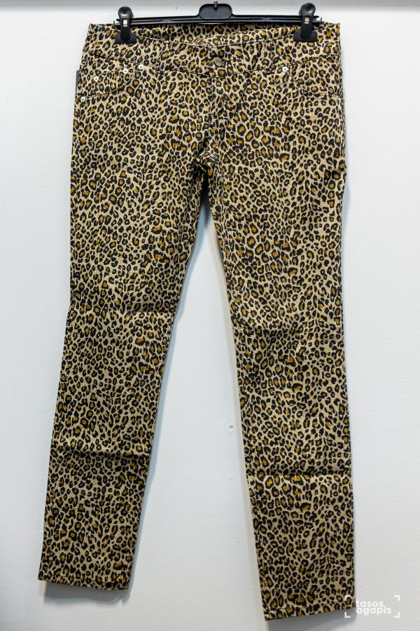 leopard trousers brown