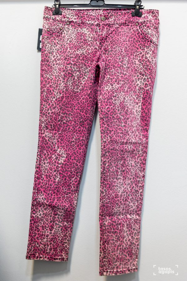 trousers pink leopard