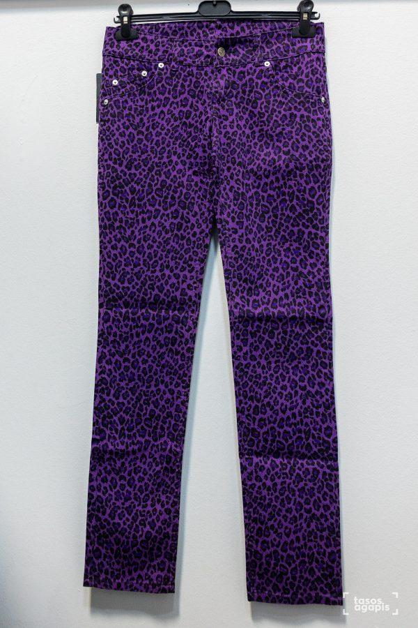 purple trousers leopard