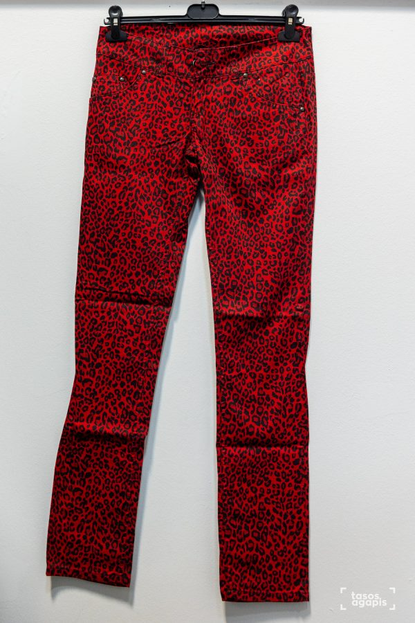 mercy trousers leopard red